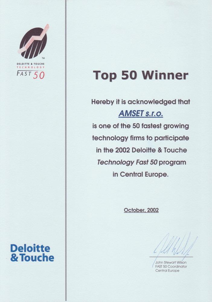 TOP 50 Winner - Amset s.r.o.