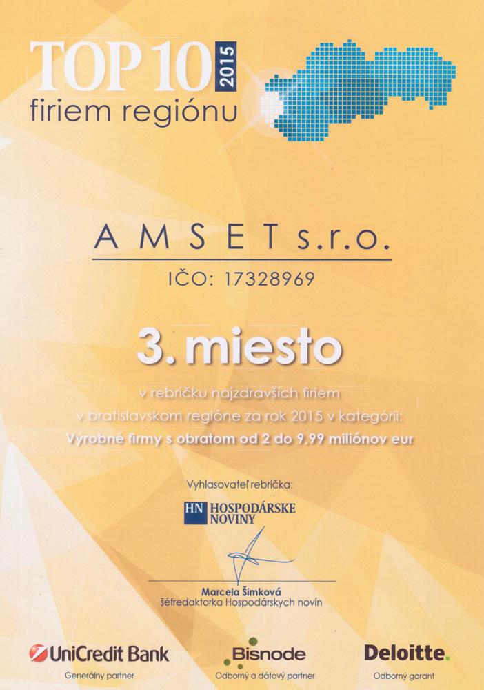 TOP 10 – Amset s.r.o.